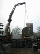 Alle guten Dinge sind 3. - Steintransport der Fa. Thiemt für das neue Ortseingangsschild in Itzum