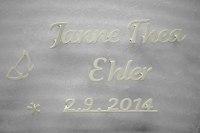 Schrift für ein Grabhmal aus 3mm V4A Edelstahl