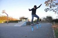 Skate Board Rail von Metall & Gestaltung gesponsert