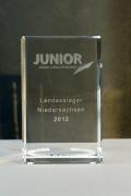 Auch 2013 durften wir den Junior Award fertigen
