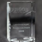 Junior Award aus gelasertem Glas - Schüler als Manager