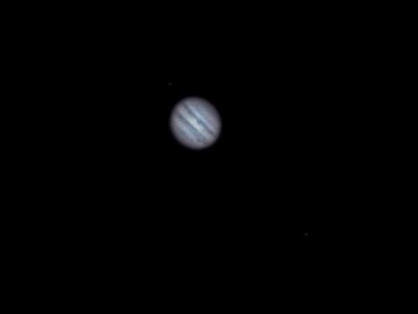 Einzelaufnahme von Jupiter am 10.1.14