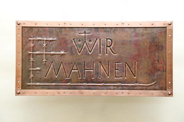 Neuanfertigung einer Kupfertafel für das Kaiser-Wilhelm Denkmal