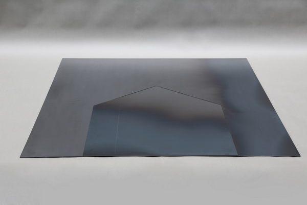 zweiteiliges kaminblech aus 3 mm zunderstahl. Black Bedroom Furniture Sets. Home Design Ideas