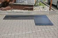 Kamin Bodenblech aus 3 mm Stahl gelasert
