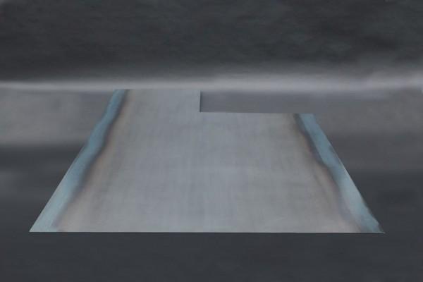 Kamin Bodenblech aus 3mm Zunderstahl
