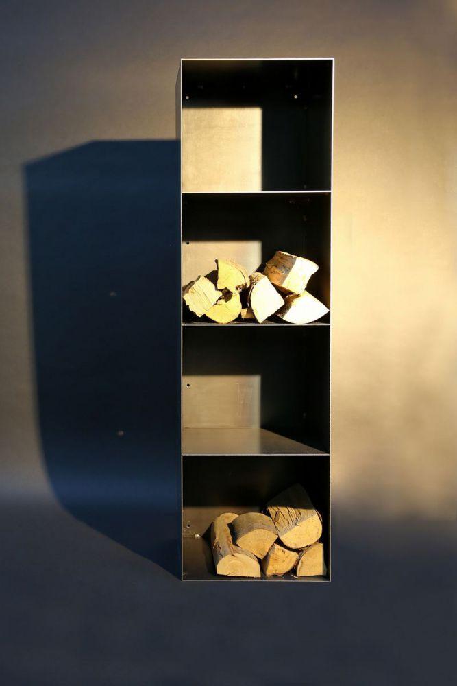kaminholz regal mit 4 f chern. Black Bedroom Furniture Sets. Home Design Ideas