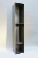 Stahlregal für Kaminholz mit Rückwand