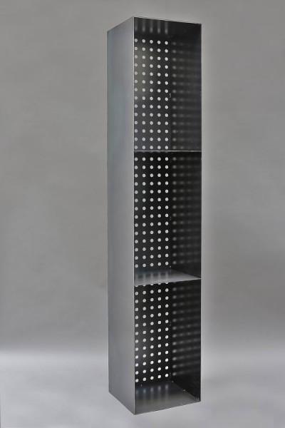 kaminholzregal aus 3 mm stahl mit einer r ckwand aus lochblech. Black Bedroom Furniture Sets. Home Design Ideas