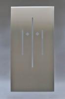 Ofentür Verkleidung aus 1 mm Edelstahl gelasert
