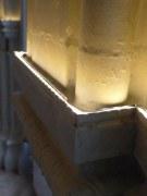 LED Beleuchtung von Kapitellen in einer historischen Villa