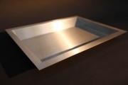 Kassenmulde zum Einbau in eine Tresenplatte aus Edelstahl