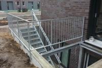 Kellerabgang und Treppe aus Vierkantrohr