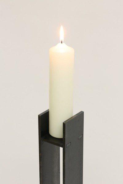90 cm hoher Kerzenleuchter aus Stahl