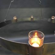 6 flamminger Kerzenleuchter aus Stahl