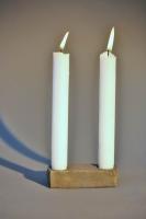 geschmiedeter Kerzenleuchter für 2 Kerzen