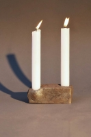 Kerzenleuchter für 2 Kerzen aus geschmiedetem Eisen