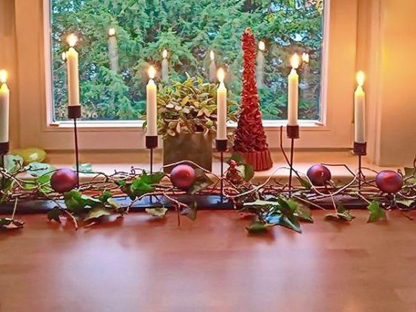 7 flammiger Kerzenleuchter aus Stahl