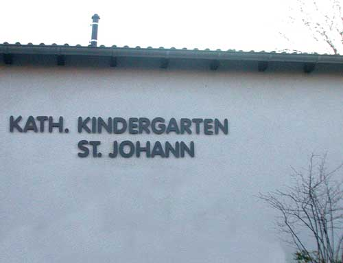 Namensschild für Kindergarten in Oberhausen - Holten