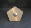 5 eckiges Klingelschild aus 3 mm Edelstahl