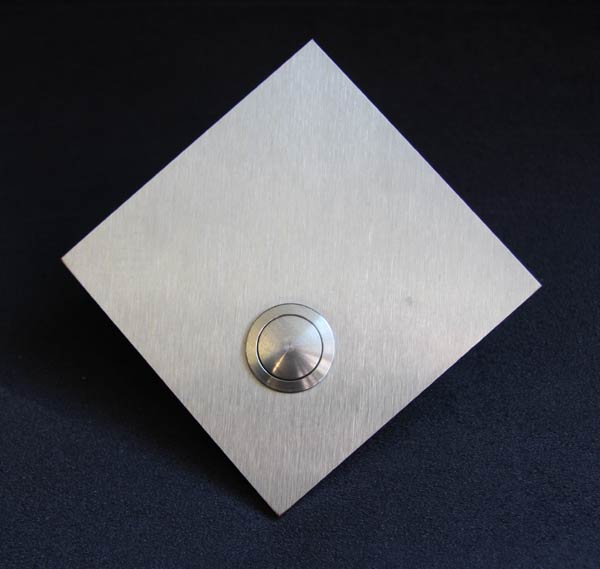 Blanco Klingelschild, Quadrat auf die  Spitze gestellt