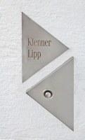 Lasergraviertes Klingelschild  und Klingel aus Edelstahl