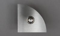Lasergraviertes Klingelschild aus Edelstahl als Viertelkreis