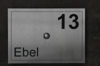 Klingelschild, anlassbeschriftet aus Edelstahl