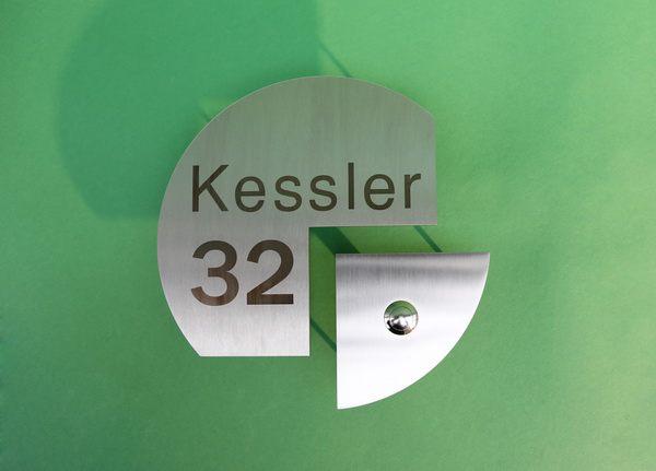 Lasergravierte Edelstahl Klingelschild