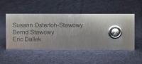Klingelschild mit 3 Namen aus Edelstahl