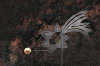 Komet als Wetterfahne von Rosi Paech