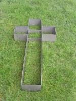 Pflanzkreuz aus Edelstahl