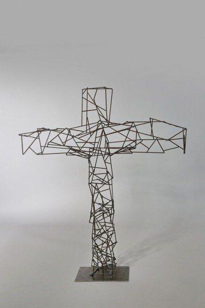 Kreuz aus Schweißdraht