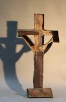 Kreuz aus 1 mm rostigem Stahlblech geschweißt