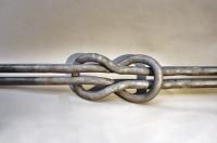Kreuzknoten aus 40 mm Stahl Vollmaterial geschmiedet