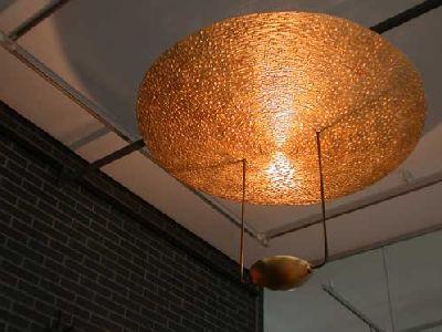 Kronleuchter, Aluminiumdraht geschweißt und vergoldet