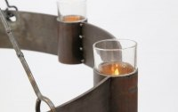 6 flamminger geschmiedeter Kronleuchter aus Stahl
