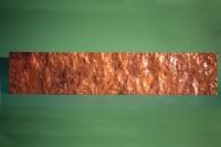 Zierblech aus Kupfer für einen Kamin mit einer geschmiedeten Struktur