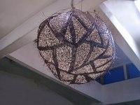 Kugelleuchte aus Kupfer, Durchmesser 80 cm