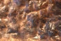 Kupferblech, ausgeglüht und mit einer Rüttelplatte bearbeitet