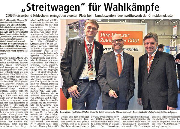 Artikel in der Leine Deister Zeitung vom 18.12.14