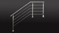 LED Reling Geländer aus Edelstahl
