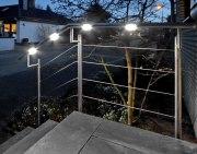 LED-Einbauleuchten für einen Handlauf