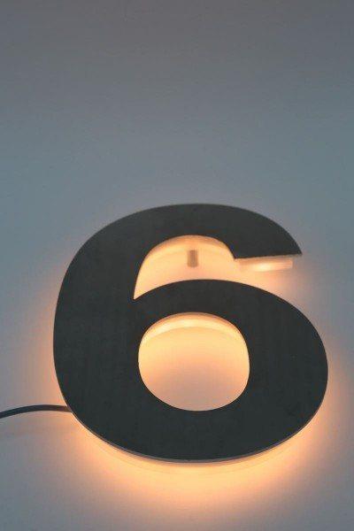 Led Hausnummer 6
