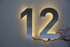 "Hausnummer ""12"" mit LED-Beleuchtung"