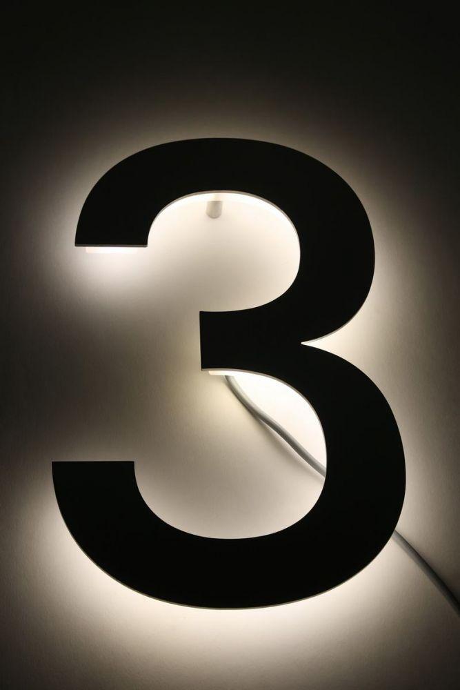 Hausnummer Led Hinterleuchtet : hausnummer 3 mit led s hinterleuchtet ~ Sanjose-hotels-ca.com Haus und Dekorationen
