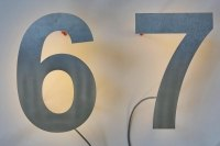 Hausnummer mit rückseitigen LED´s