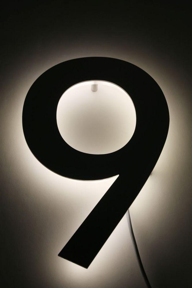 Hausnummer Led Hinterleuchtet : hausnummer 9 mit led hinterleuchtet ~ Sanjose-hotels-ca.com Haus und Dekorationen