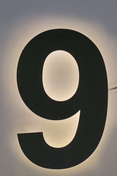 LED Hausnummer 9