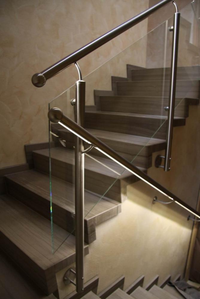 Gemauerte Treppengeländer geländer mit glasfüllung kaufen